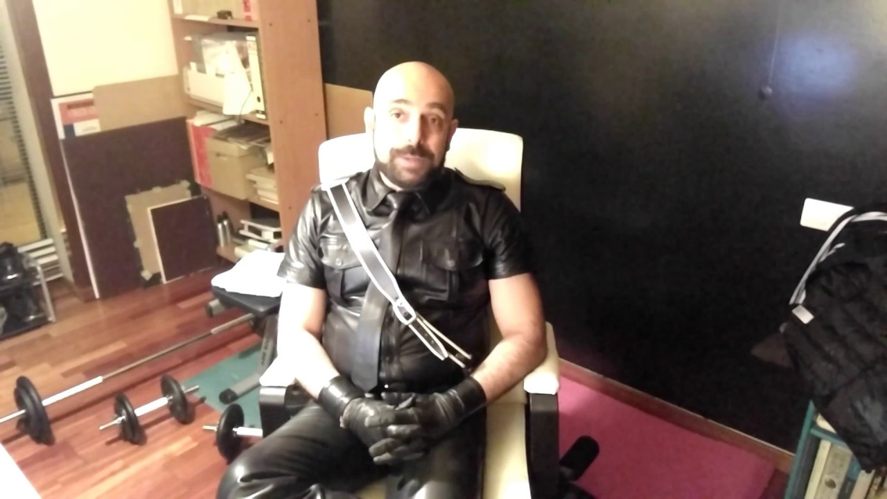 Leather muscle gay