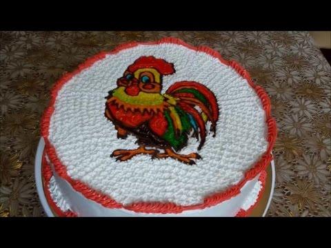 Новогодние торты из крема мк