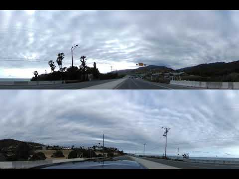 1 hr and 16 minutes of Driving in Malibu, California on Pacific Coast Highway with the V360 camera