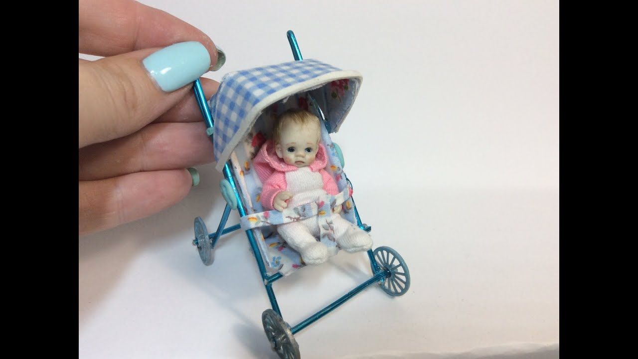 How To Make Miniature Baby Stroller Pram Dollhouse Video