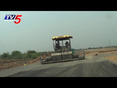 Amaravati Seed Axis Road Construction at High Speed Shocks People | TV5 News