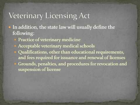 Laws Related to Veterinary Practice
