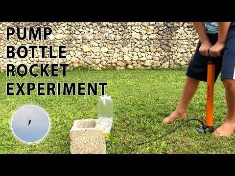 Water Bottle Rocket Experiment - DIY Pump Bottle Rocket launch
