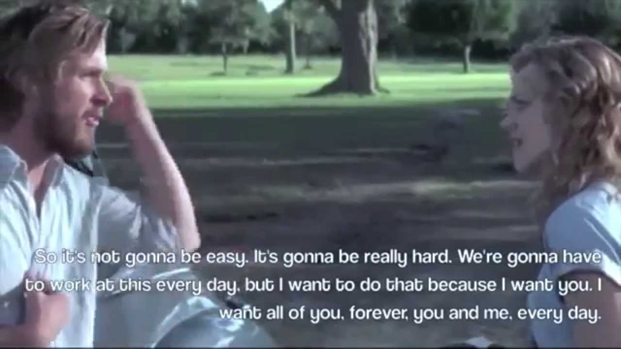 Movies Love Quotes The Notebook I Want All Of You Forever You