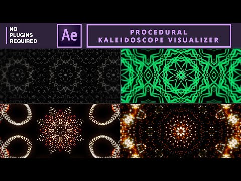 Procedural kaleidoscope visualizer in After Effects | Tutorial No Plugins Required