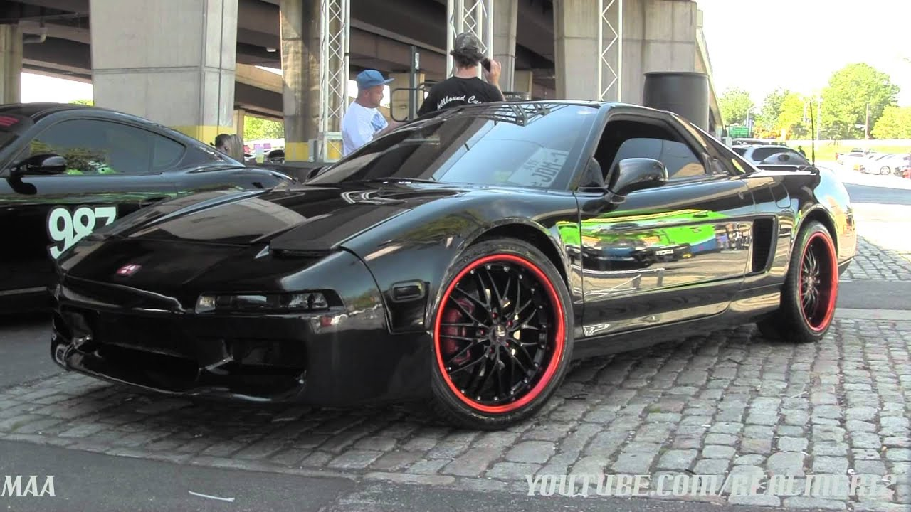 Stunning Blacked Out Bmw M3 Amp Blacked Out Acura Nsx Youtube