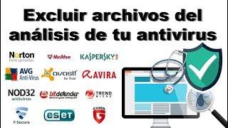 Como excluir archivos del análisis de tu antivirus y evitar falsas alarmas en Avast.