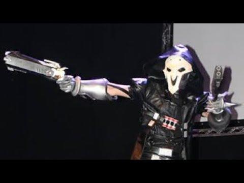 overwatch reaper cosplay skit youtube