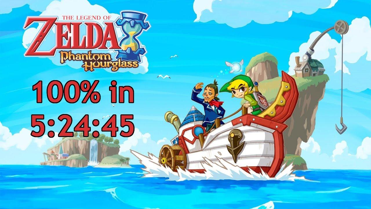Legend Of Zelda Phantom Hourglass 100% Speedrun in 5:24:45 [World Record]