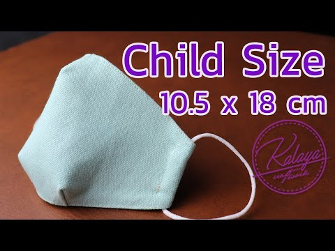 Child Size Face Mask Sewing Tutorial   How to Make Mask Pattern   Fabric Mask Ep107 マスクの作り方 máscara