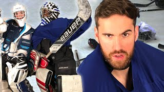 Drunk People Try Putting On Hockey Goalie Equipment