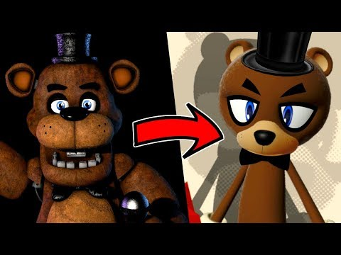 Creating FIVE NIGHTS AT FREDDY'S characters in SONIC FORCES