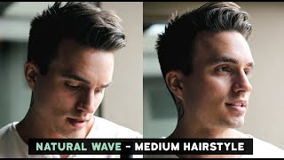Men's Natural Wave Voluminous Hairstyle + Current Hairstyle Update (Medium Length)