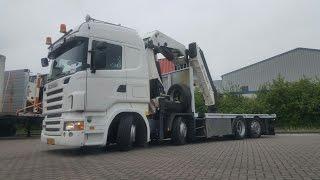 Kleyn Trucks Scania R480 with HMF Crane