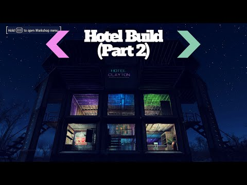 Building lobby and Pipers Room! Hotel Build (Part 2)