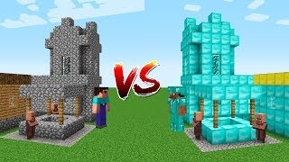 WHO IS THE BEST IN MINECRAFT? Noob vs Pro: Village battle