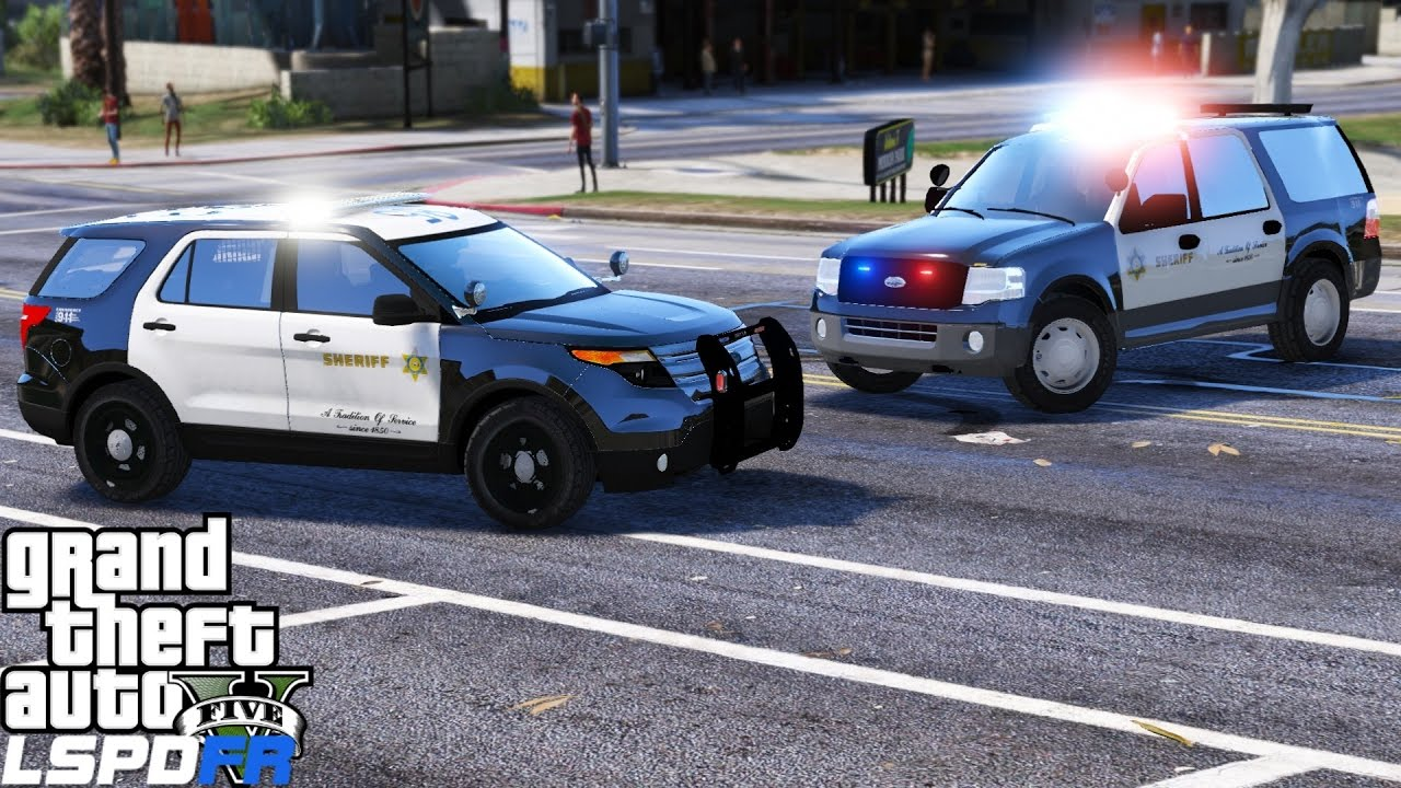 GTA 5 LSPDFR Police Mod 341 | Los Angles County Sheriff Department | LASD  ELS Utility & Expedition