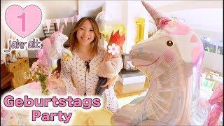 Lili wird 1! Einhorn Geburtstags Party | Torte backen + Dekoration | Mamiseelen