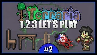 Conquering The Night! Tree House Planning! || Let's Play Terraria 1.2.3 [episode 2]