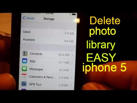 How do you delete photo folders on iphone
