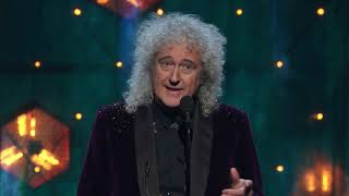 Brian May of Queen Inducts Def Leppard at the 2019 Rock & Roll Hall of Fame Induction Ceremony