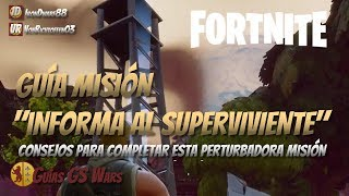 La Misión Informa al Superviviente en FORTNITE | GUÍA DE MISIONES EN VILLATABLÓN