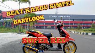 Modifikasi Beat Karbu Babylook Simple Review  SUPER RED  Palangkaraya