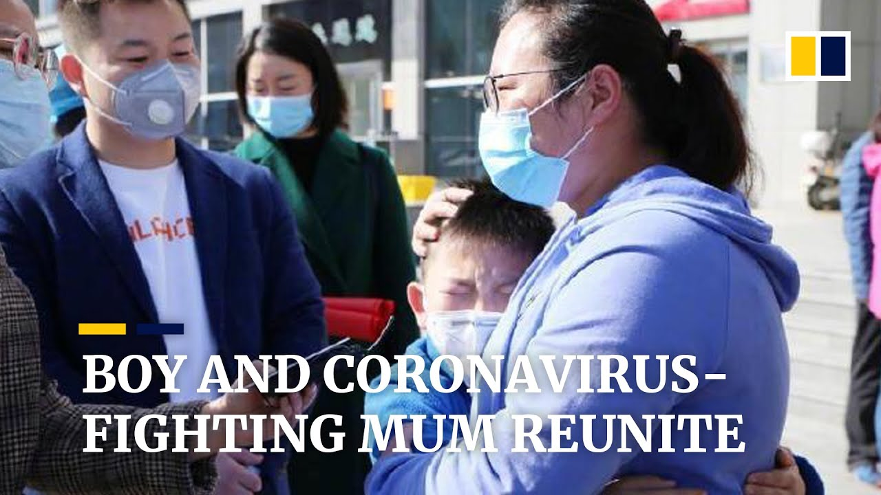 Heartwarming reunion of boy and coronavirus-fighting mum in China