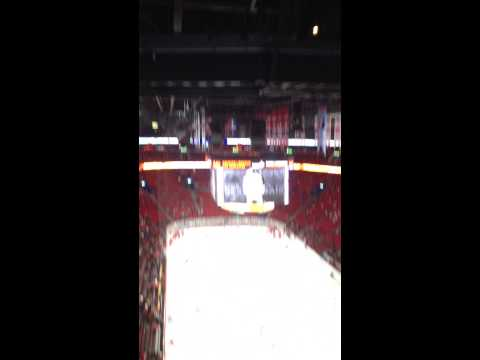 View inside the Bell Center