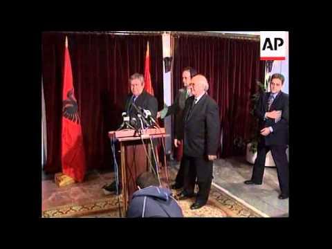 MACEDONIA: ALBANIAN DEFENCE MINISTER HAJDARAGA VISIT
