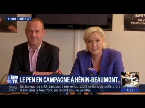 """Législatives : Marine Le Pen veut représenter la seule """"opposition ferme et sérieuse"""""""
