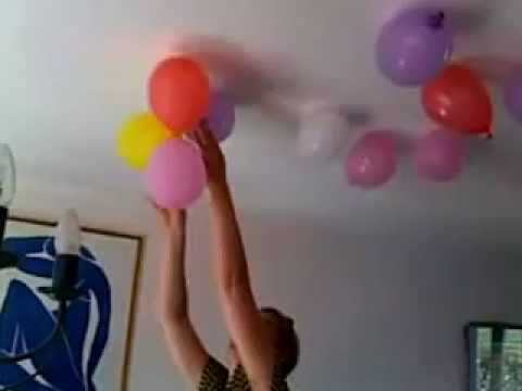 d coration anniversaire avec des ballons youtube. Black Bedroom Furniture Sets. Home Design Ideas