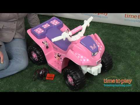 Power Wheels Disney Minnie Mouse Bow-tique Lil' Quad From Fisher-Price