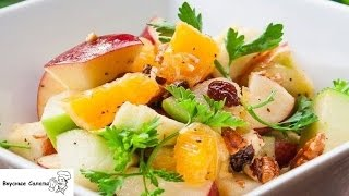 Салат из апельсинов и яблок
