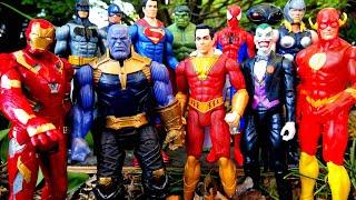 Shazam vs Thor vs Thanos vs Iron Man vs Flash vs Joker - Marvel vs DC fight!
