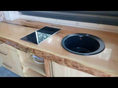 Кухонная столешница из слэба кедра. Часть 3