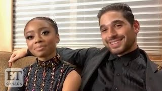 Skai Jackson And Alan Bersten Talk 'DWTS' Premiere