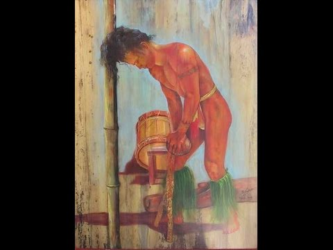 Artiste peintre Gisele LEDOUX TAHITI 2013