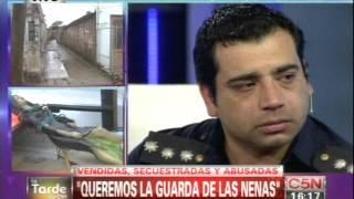 C5N - HORROR EN MONTE CHINGOLO: HABLA EL POLICIA QUE RESCATO...