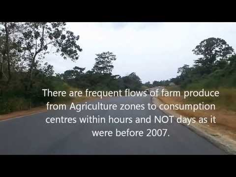 Sierra Leone's road infrastructure: Kenema  - Kailahun  - Koindu Highway