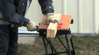Irwin Marathon Protouch Coarse Cut Carpenters Saw In Action
