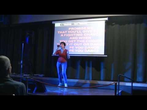 Vanessa sings I HOPE YOU DANCE
