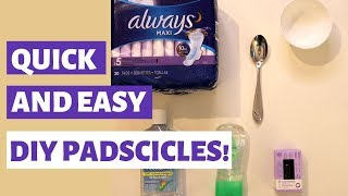 DIY Padscicles | Postpartum Care