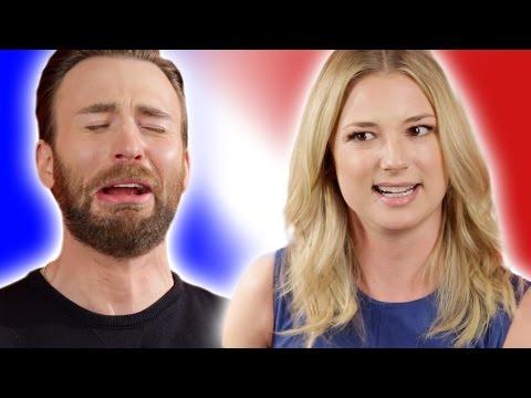 "Chris Evans & the 'Captain America: Civil War' Cast Play ""Superhero Would You Rather?'"
