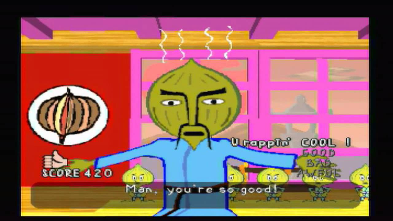 parappa the rapper master onion(chop kick punch) - youtube