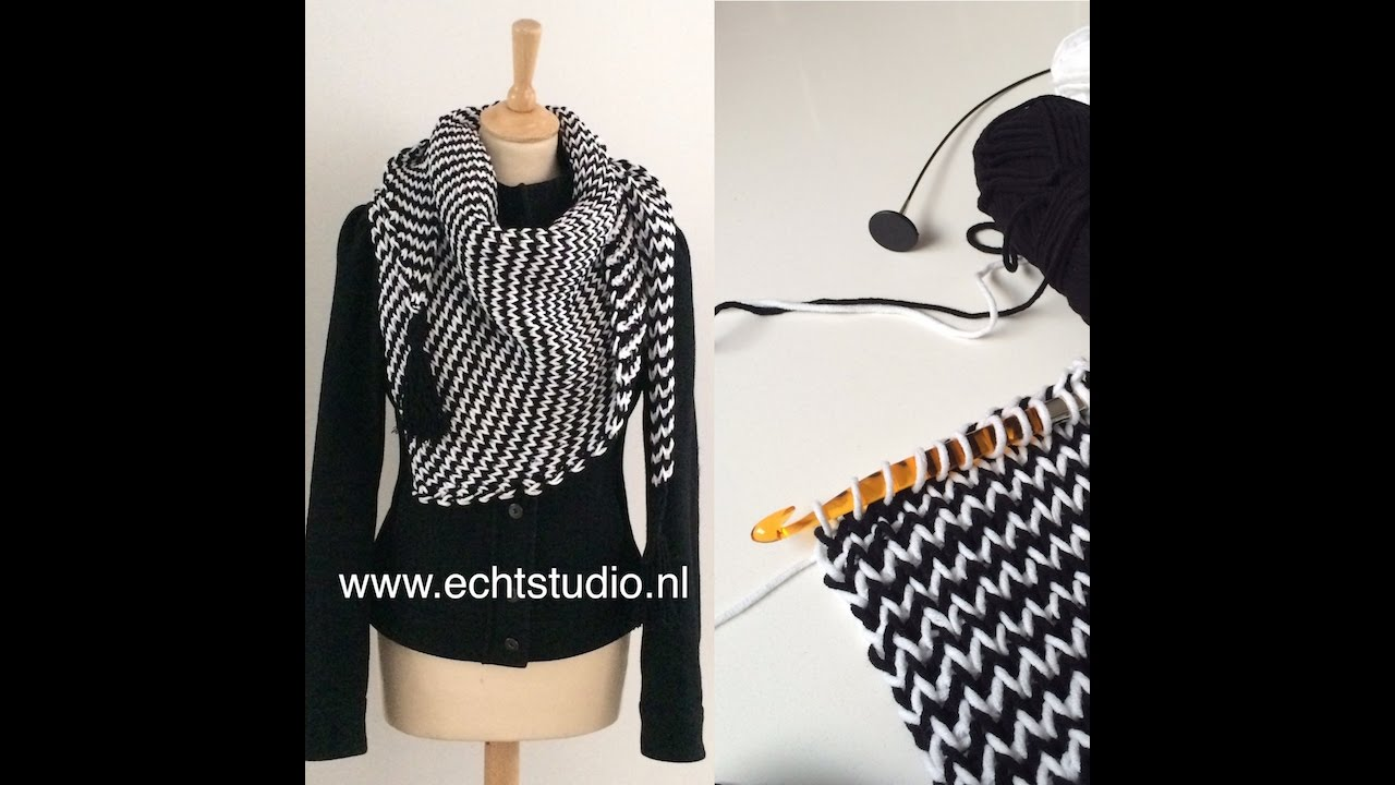 Tunisch Haken De Knitstitch Youtube