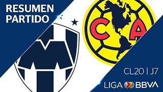 Resumen y Goles | Monterrey vs América | Jornada 7 - CL 2020 | Liga BBVA MX