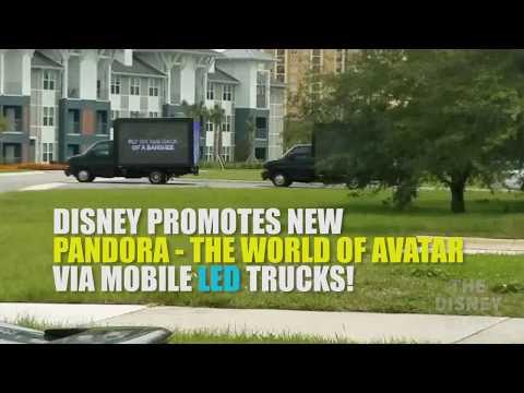 LED Trucks promote Pandora - The World of Avatar