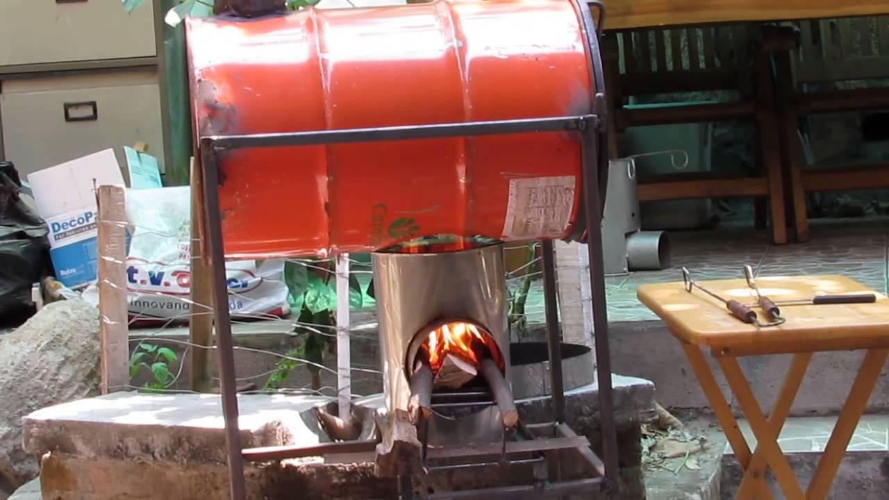 Horno con cocina ahorradora de le a youtube - Como hacer una cocina de lena ...