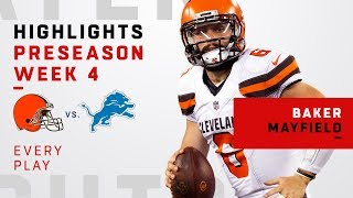 Every Baker Mayfield Throw & Run vs. Lions